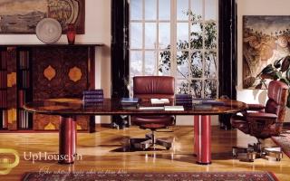 mẫu bàn làm việc văn phòng đẹp của giám đốc U11