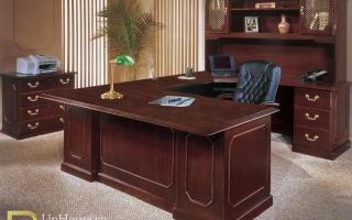 mẫu bàn làm việc văn phòng đẹp của giám đốc U32