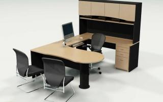 mẫu bàn làm việc văn phòng đẹp của giám đốc U34