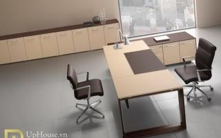 mẫu bàn làm việc văn phòng đẹp của giám đốc U38