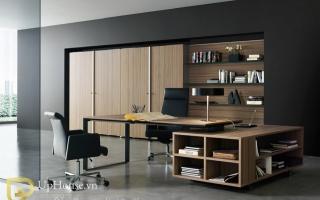 mẫu bàn làm việc văn phòng đẹp của giám đốc U44