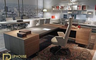 mẫu bàn làm việc văn phòng đẹp của giám đốc U8