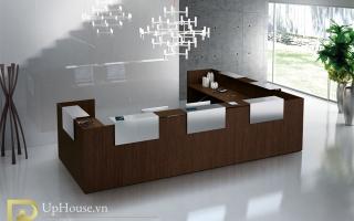 Mẫu bàn quầy lễ tân gỗ đẹp U13