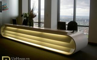 Mẫu bàn quầy lễ tân gỗ đẹp U55