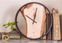 mẫu đồng hồ treo tường bằng gỗ