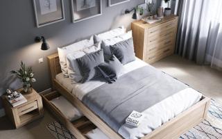 Mẫu giường ngủ đẹp có ngăn kéo ở dưới