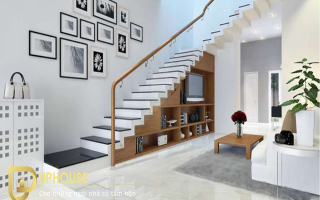 trang trí cầu thang phòng khách đẹp