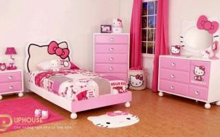 mẫu giường ngủ gỗ đẹp cho bé U22
