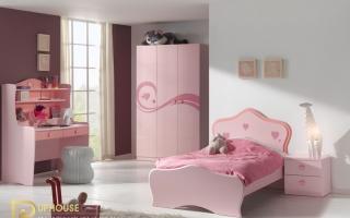 mẫu giường ngủ gỗ đẹp cho bé U27