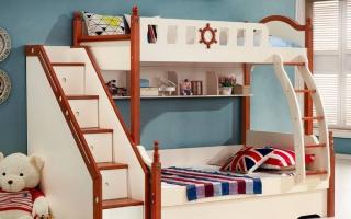 mẫu giường tầng gỗ đẹp U16
