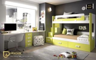 mẫu giường tầng gỗ đẹp U17