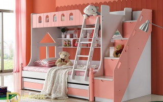 mẫu giường tầng gỗ đẹp U24a