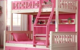 mẫu giường tầng gỗ đẹp U26