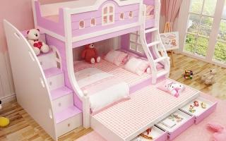 mẫu giường tầng gỗ đẹp U32