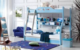 mẫu giường tầng gỗ đẹp U7