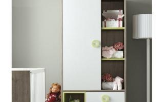 Tủ quần áo trẻ em bằng gỗ U12