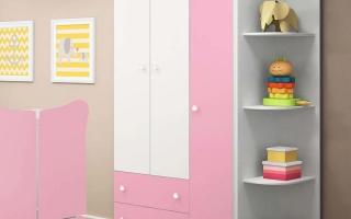 Tủ quần áo trẻ em bằng gỗ U24