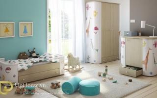 Tủ quần áo trẻ em bằng gỗ U5