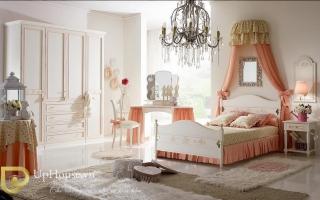 mẫu giường ngủ gỗ đẹp cho bé U48