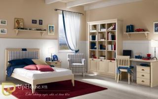 mẫu giường ngủ gỗ đẹp cho bé U59