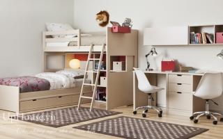 mẫu giường tầng gỗ đẹp U10