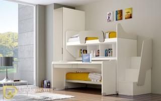 mẫu giường tầng gỗ đẹp U2