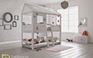 mẫu giường tầng gỗ đẹp U21