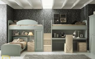 mẫu giường tầng gỗ đẹp U28