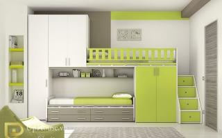 mẫu giường tầng gỗ đẹp U31