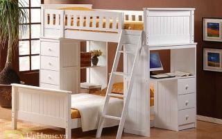 mẫu giường tầng gỗ đẹp U33