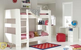 mẫu giường tầng gỗ đẹp U4