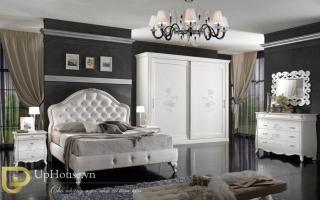 Mẫu giường ngủ gỗ đẹp U36