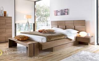 Mẫu giường ngủ gỗ đẹp U38