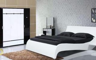 Mẫu giường ngủ gỗ đẹp U4