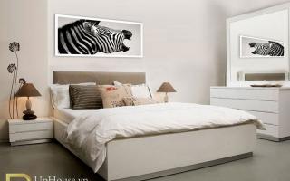 Mẫu giường ngủ gỗ đẹp U45