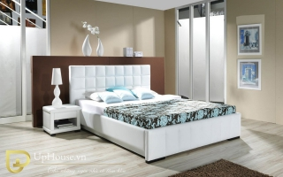 Mẫu giường ngủ gỗ đẹp U48