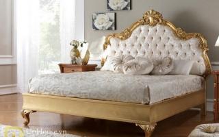 Mẫu giường ngủ gỗ đẹp U55