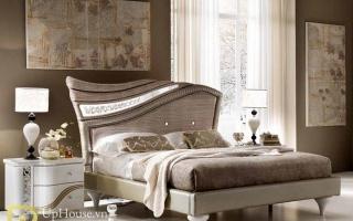 Mẫu giường ngủ gỗ đẹp U59