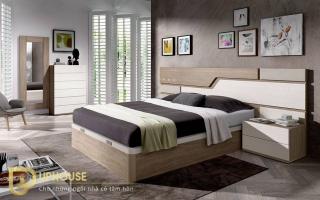 Mẫu giường ngủ gỗ đẹp U10