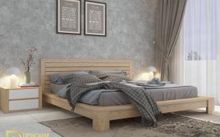 Mẫu giường ngủ gỗ đẹp U21