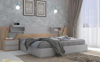 Mẫu giường ngủ gỗ đẹp U22