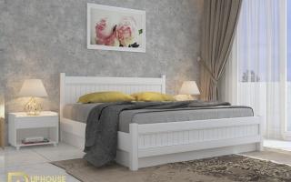 Mẫu giường ngủ gỗ đẹp U25