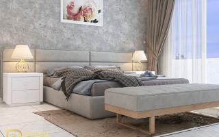 Mẫu giường ngủ gỗ đẹp U48a