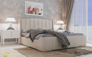 Mẫu giường ngủ gỗ đẹp U65a