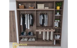 Mẫu tủ quần áo gỗ đẹp U52a