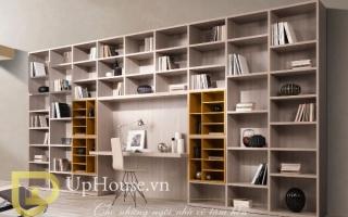 Tủ kệ giá sách gỗ đẹp U7