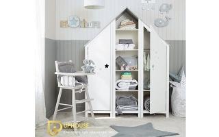 Tủ quần áo trẻ em bằng gỗ U43