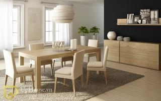 Bộ bàn ăn gỗ đẹp U25