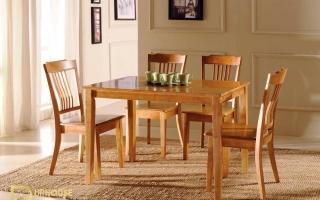 Bộ bàn ăn gỗ đẹp U12