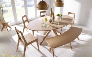 Bộ bàn ăn gỗ đẹp U2